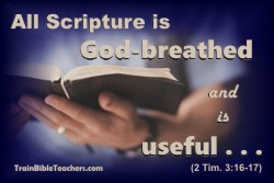 Scripture is the Foundation for Bible Teaching