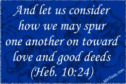 Spur One Another On