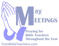 Pray about Meetings Teachers Attend