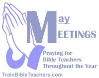 Pray about Meetings Teachers Attend