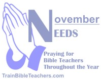 Pray Bible Teachers Point to God as the One to Meet Needs