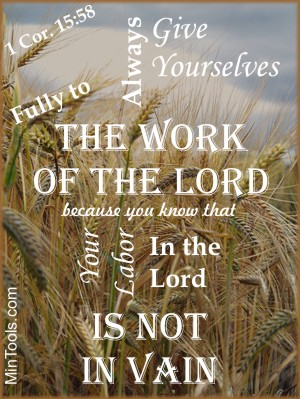 Hope for Discouraged Teachers that Labor in the Lord is not in Vain